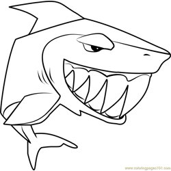 Shark Animal Jam Free Coloring Page for Kids