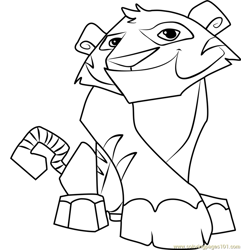 Tiger Animal Jam Free Coloring Page for Kids