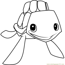 sea turtle Animal Jam Free Coloring Page for Kids