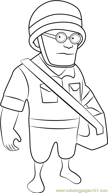 Medic Coloring Page