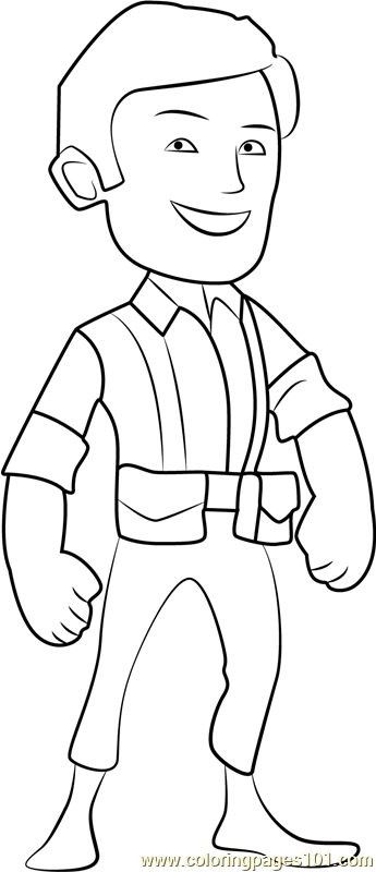 Villager Coloring Page