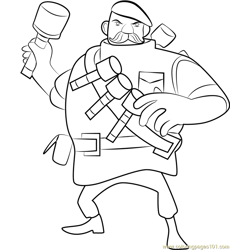 Grenadier Free Coloring Page for Kids