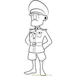 Lt Hammerman Free Coloring Page for Kids