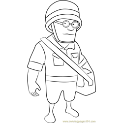 Medic Free Coloring Page for Kids