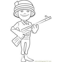 Rifleman Free Coloring Page for Kids