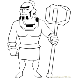 Warrior Free Coloring Page for Kids