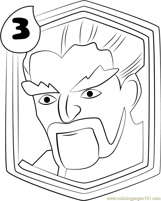 Ice Wizard Coloring Page For Kids Free Clash Royale Printable Coloring Pages Online For Kids Coloringpages101 Com Coloring Pages For Kids
