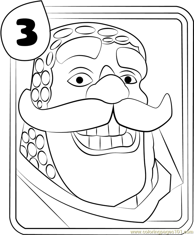 coloring page free clash royale coloring pages