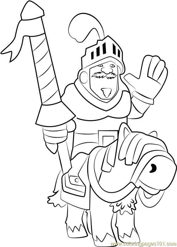 Prince Coloring Page - Free Clash Royale Coloring Pages
