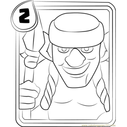 Spear Goblins Free Coloring Page for Kids