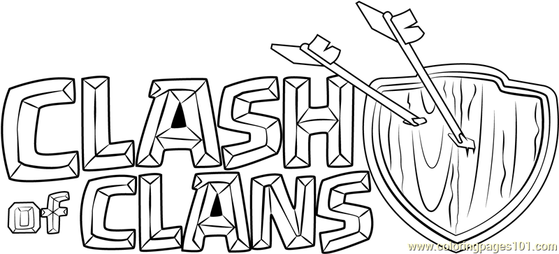 Clash Of Clans Logo Coloring Page Free Clash Of The Clans Coloring - Clash-of-clans-coloring-pages