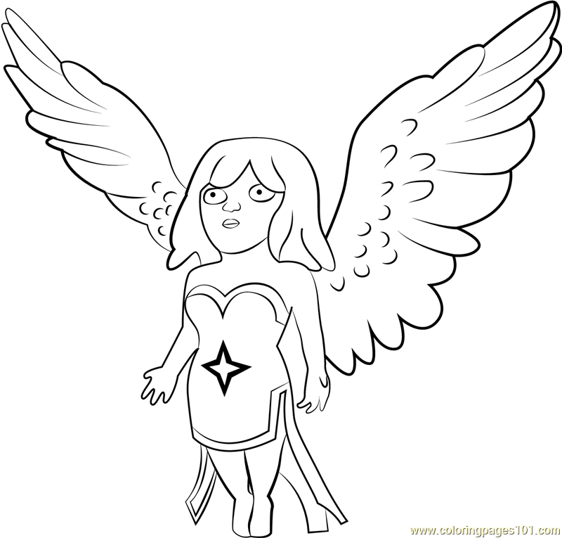 Healer Coloring Page