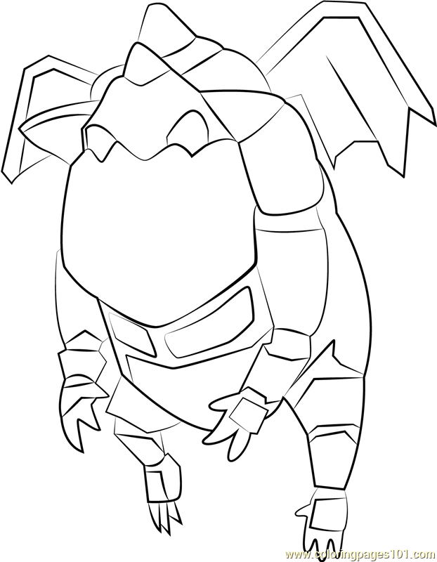 Clash Of Clans Coloring Pages Pdf : Lava hound coloring page free clash of the clans
