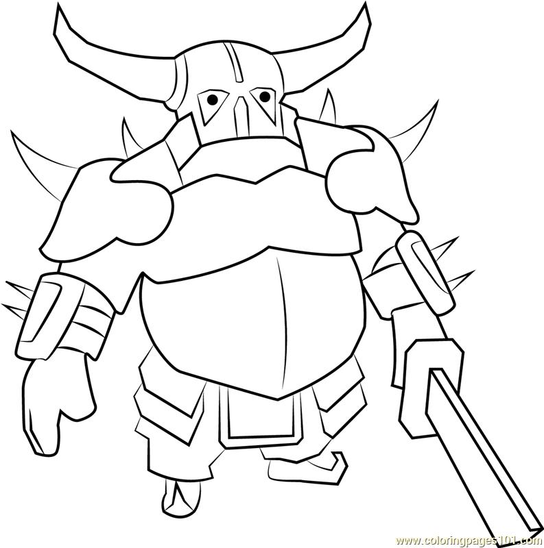 clash of clans pekka drawing