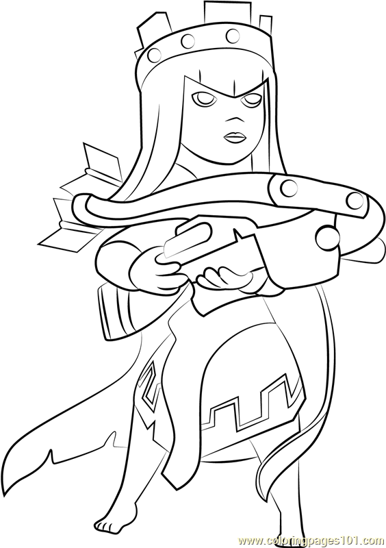 Queen Archer Coloring Page