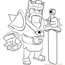 Barbarian King Free Coloring Page for Kids