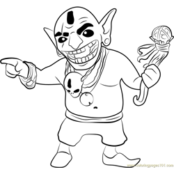 Goblin King Free Coloring Page for Kids