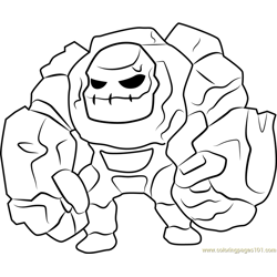 Golem Free Coloring Page for Kids