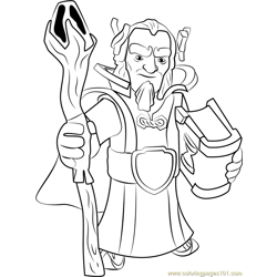 Grand Warden Free Coloring Page for Kids