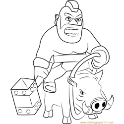 Hog Rider Free Coloring Page for Kids