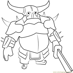 Pekka Free Coloring Page for Kids