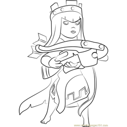Queen Archer Free Coloring Page for Kids