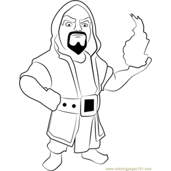 Wizard Free Coloring Page for Kids