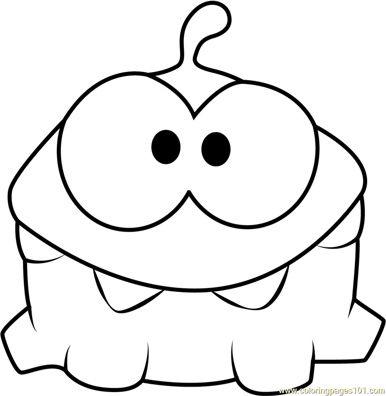 Om Nom Coloring Page Free Cut The Rope Coloring Pages