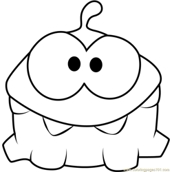 Om Nom Free Coloring Page for Kids