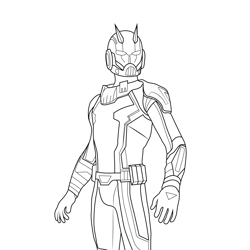 Ant Man Fortnite Free Coloring Page for Kids