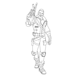 Carlos Fortnite Free Coloring Page for Kids