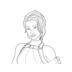 Emmy Fortnite Free Coloring Page for Kids