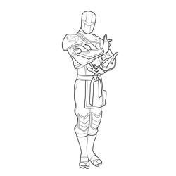 Hybride Fortnite Free Coloring Page for Kids