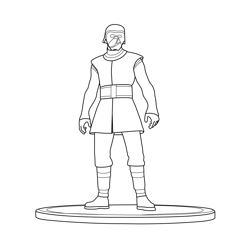 Kylo Ren Fortnite Free Coloring Page for Kids