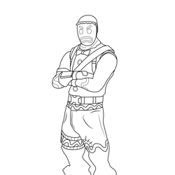 Merry Marauder Fortnite Free Coloring Page for Kids