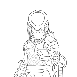 Predator Fortnite Free Coloring Page for Kids