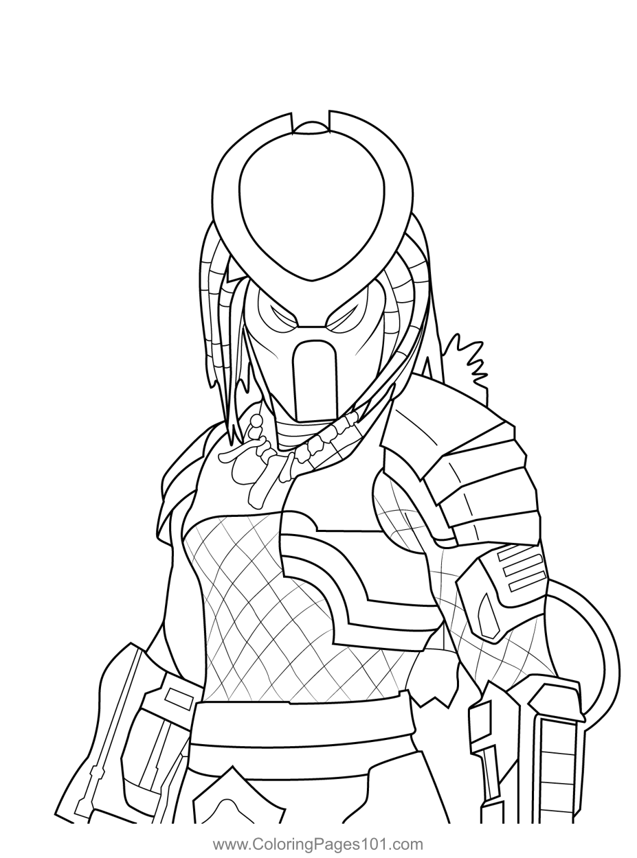 Predator Fortnite Coloring Page For Kids Free Fortnite Printable Coloring Pages Online For Kids Coloringpages101 Com Coloring Pages For Kids
