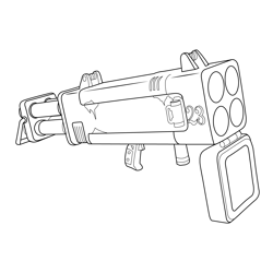 Quad Launcher Fortnite Free Coloring Page for Kids