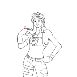 Ramirez Fortnite Free Coloring Page for Kids
