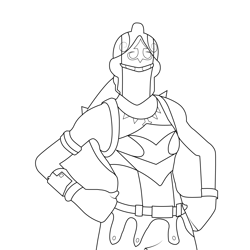 Red knight Fortnite Free Coloring Page for Kids