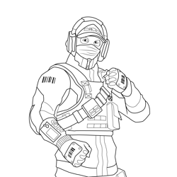 Reflex Fortnite Free Coloring Page for Kids