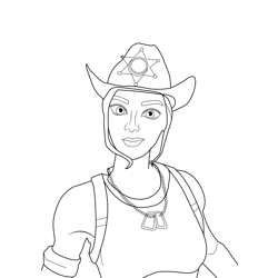 Rio Fortnite Free Coloring Page for Kids