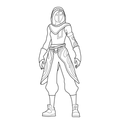 Sandstorm Fortnite Free Coloring Page for Kids