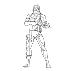 Scuba Jonesy Fortnite Free Coloring Page for Kids