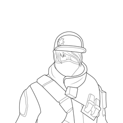 Shot caller Fortnite Free Coloring Page for Kids