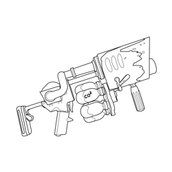 Snowball Launcher Fortnite Free Coloring Page for Kids