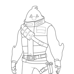 Snowman Fortnite Free Coloring Page for Kids
