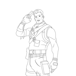 Star Spangled Trooper Fortnite Free Coloring Page for Kids