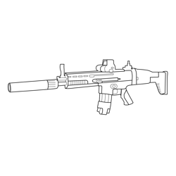 Tactical Assault Rifle Fortnite Free Coloring Page for Kids