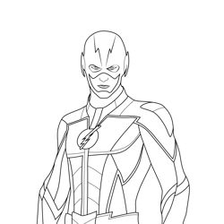 The Flash Skin Fortnite Free Coloring Page for Kids